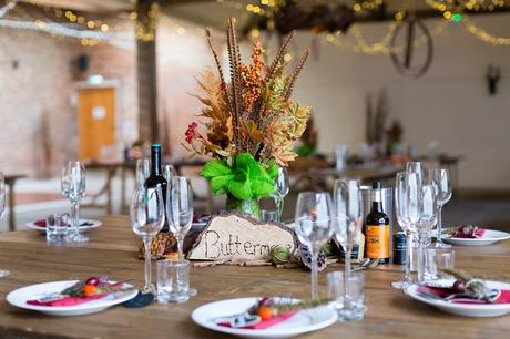 Yorkshire Wedding Photographers at Barmbyfield Barn autumnal wedding details