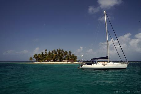tropical paradise sailboat