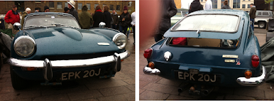 My old GT6 Mk2 is still on the road – a reunion at the Classic Carboot Sale
