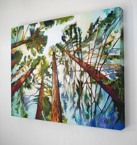 Reach Boldly Into Sunny Skies. 30″ x 40″, Oil on Wood, © 2018 Cedar Lee