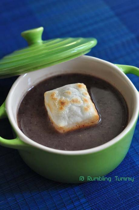 Easy Sweet Red Bean Soup with Mochi ぜんざい
