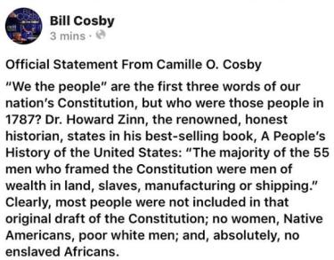"Camille Cosby Calls Bill Cosby's Conviction ""Mob Justice"""