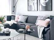 Blush Grey Copper Living Room
