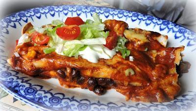 Blackbean & Corn Enchiladas