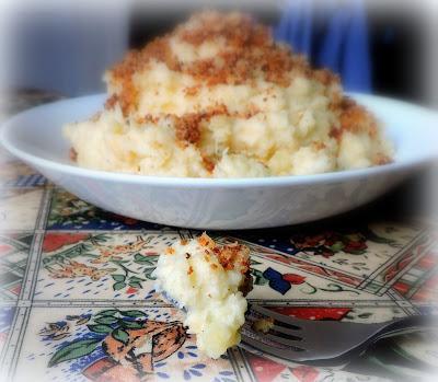 Triple Mash with Horseradish Crumbs