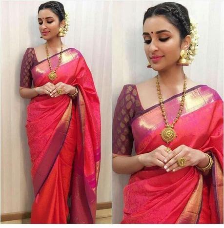 red saree for wedding reception