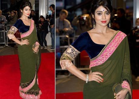 Sriya Saran wearing saree