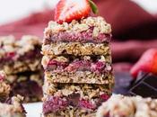 Strawberry Chocolate Chunk Oatmeal Bars (Gluten Free Vegan)