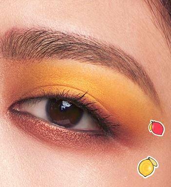 Maybelline lemonade craze eyeshadow palette, makeup look