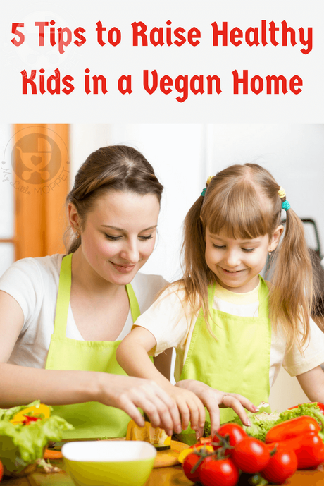 A vegan diet excludes certain foods, but it can still be healthy! Here are 5 simple tips to raise healthy kids in a vegan household without any stress!