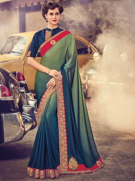satin crush sarees online