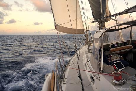 Sailing upwind in the Caribbean
