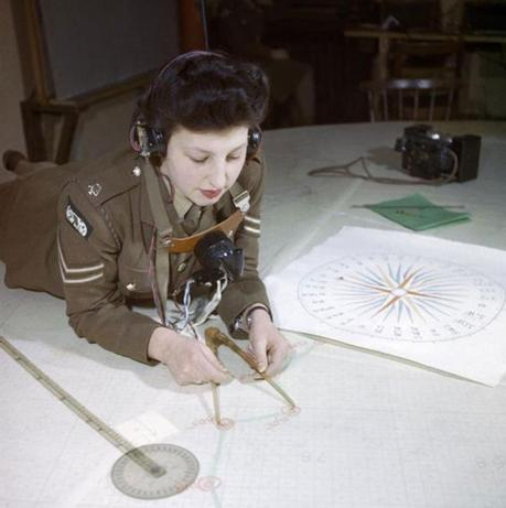 Member of the Auxiliary Territorial Service at work