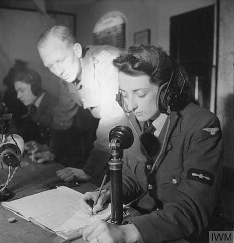 Waaf Girl at work on a bombing raid 1942