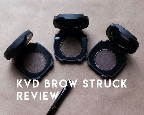 kat von d brow struck dimension powder review: medium brown, dark brow, walnut