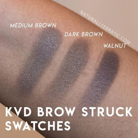 Kat von D Brow Struck Swatches