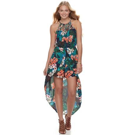 Juniors' Candie's® Walk-Through Halter Dress