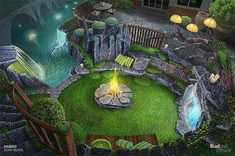 Fictional gardens