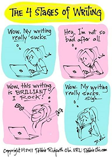Image result for stages of writing funny