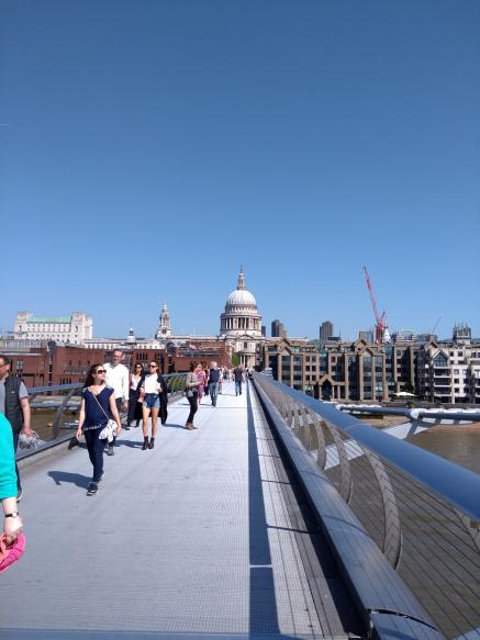 Across the Millennium Bridge