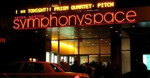 picture of Symphony Space marquee