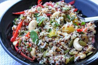 Pineapple Quinoa Salad with Cashews (Dairy, Gluten and Sugar Free)