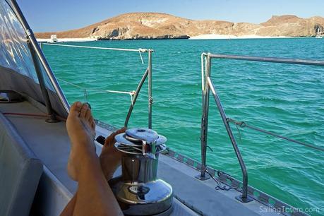 At anchor before playa de Balandra, Mexico