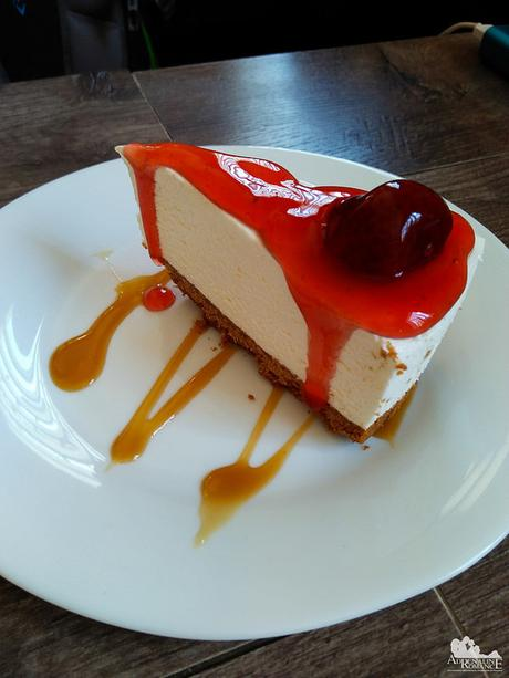 Sinfully delicious cheese cake at Orange Cafe