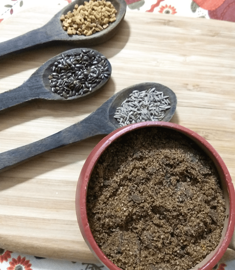 Poppy and flaxseed chutney powder