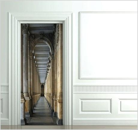 3d door decals photo sticker decor for inside room doors