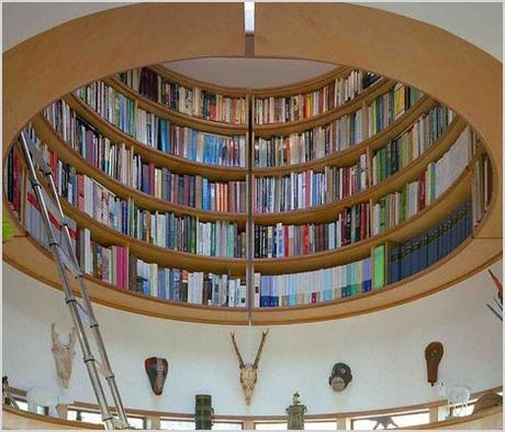 lightwell library incredible skylight lofted circular bookcase