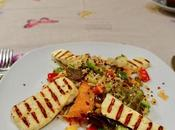 Grilled Haloumi Salad with Some Crunch!
