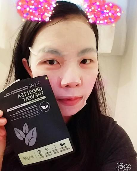 Sooae Green Tea Natural Collagen Essence Mask . 🌱 Day 29 of #maskmayhem2018 #maskmayhem hosted by @lemondropglow . 🌱 This is my second Sooae Green Tea mask. Right away as I open the package, I smell a very pleasant scent, I think it has a bit of the gr...