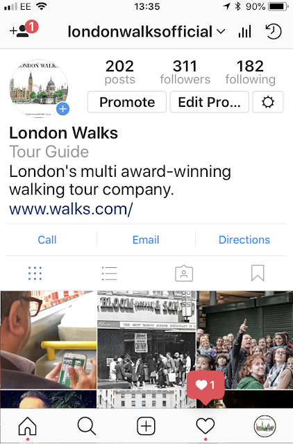 Keep In Touch With London Walks!