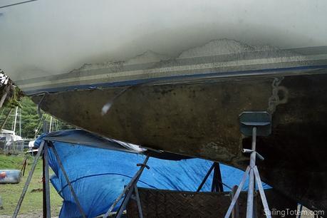 fiberglass sailboat hull