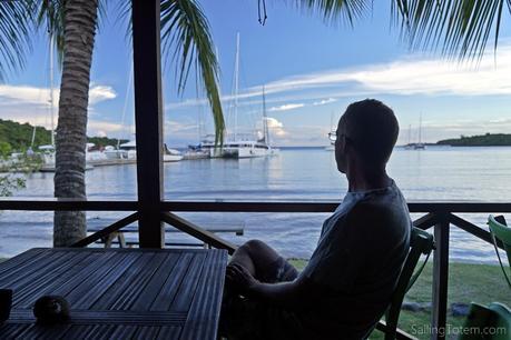 Relaxing view from Grenada Marine's restaurant