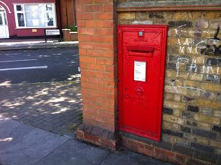 In wall post box