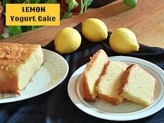 Lemon Yogurt Cake Recipe @ treatntrick.blogspot.com