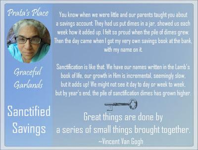 Prata's Place: Graceful Garlands 42: Sanctified Savings
