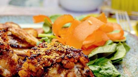 Recipe   Bacon & Pesto Crusted Chicken Thighs