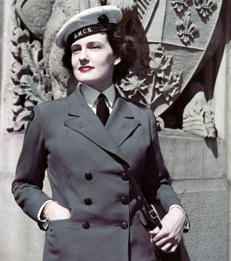 1940s-WW2-Women-of-Canada-WRCNS-KITTY-KINCAID-1944
