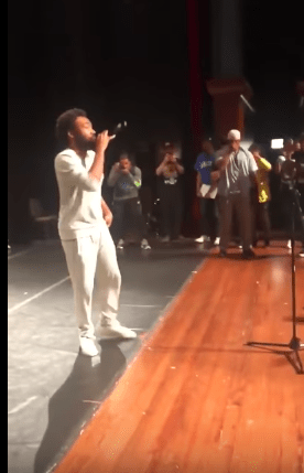 """Chance The Rapper Surprised Youth At """"Open Mike"""" With Donald Glover"""
