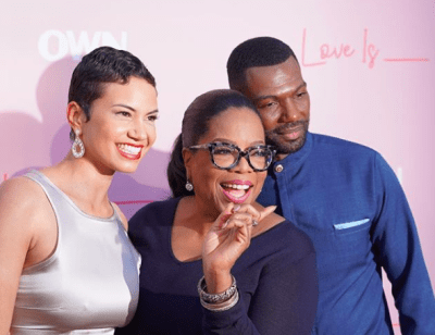 "Oprah, Mara Brock Akil, Pink Carpet Premiere Of OWN's ""Love Is_"""