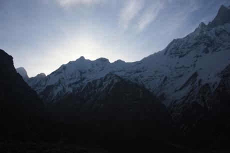 DAILY PHOTO: Sun Rising Over a Ridge in the Annapurnas