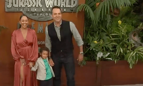 Tamera Mowry, Adam Housley & Son Aden: Jurassic World  Premiere