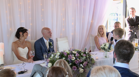 the best man has everyone laughing during his wedding speech at the blue mallard