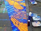 Installation Hector Hernandez Monarca Mural Portland,