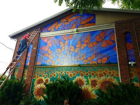 Hector Hernandez Monarca Mural in Portland, OR