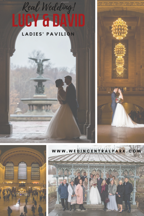 Lucy and David's Winter Wedding in the Ladies' Pavilion with Photos at Grand Central