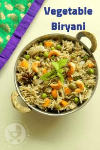 Kid Friendly Vegetable Biryani